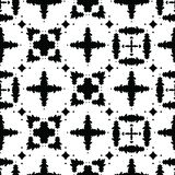 Monochrome Black on White Abstract Grid Vector Pattern Seamless vector illustration