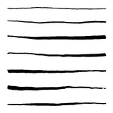 Monochrome black and white abstract line stroke set vector Royalty Free Stock Photo