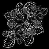 Seamless pattern of flowers Stock Photos