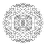 Monochrome black and white lace ornament vector Royalty Free Stock Image