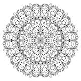 Monochrome black and white lace ornament vector Royalty Free Stock Photography