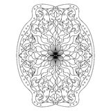 Monochrome black and white lace ornament vector Stock Image
