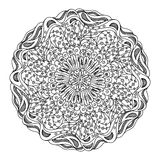 Monochrome black and white lace ornament vector Stock Photos