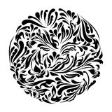 Monochrome black and white lace ornament vector Stock Photo
