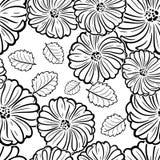 Monochrome black and white seamless pattern Stock Image