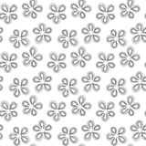 Seamless flowers black and white pattern royalty free stock photography