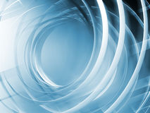 Monochrome blue toned abstract digital 3d spiral Stock Photos