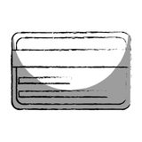 Monochrome blurred contour with credit card Royalty Free Stock Photos