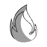 Monochrome blurred contour with flame close up. Vector illustration Royalty Free Stock Image