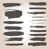 Monochrome brushes Royalty Free Stock Images