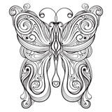 Monochrome butterfly. With unique pattern Royalty Free Stock Images