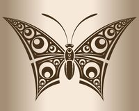 Monochrome butterfly. Royalty Free Stock Image