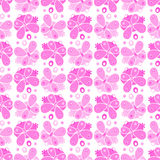 Monochrome butterfy pattern. Different color vector white background Royalty Free Stock Photo