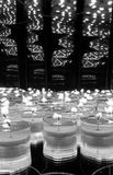 Monochrome Candle Reflections Stock Image