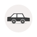 Monochrome car icon Stock Photography