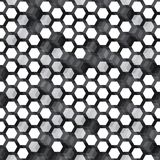 Monochrome cell seamless pattern Stock Photo