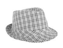 Monochrome checked hat for the summer Royalty Free Stock Image