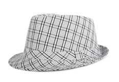 Monochrome checked hat for the summer Stock Image