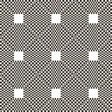 Monochrome chequered pattern with squares Stock Image