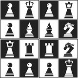 Monochrome chess seamless pattern Royalty Free Stock Photos