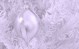 Monochrome Christmas bauble. Royalty Free Stock Images