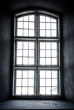 Monochrome church window from inside Stock Images