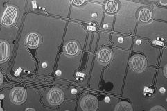 Monochrome Circuit Board Royalty Free Stock Image
