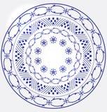Monochrome Circular Design Stock Photo