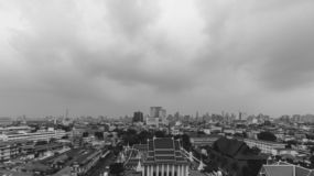 Monochrome Cityscapes in Bangkok , Thailand. Black and White Today the sky`s overcast royalty free stock photos