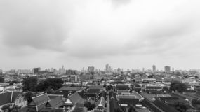 Monochrome Cityscapes in Bangkok , Thailand. Black and White Today the sky`s overcast royalty free stock image