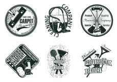 Monochrome Cleaning Company Logos Set Stock Image