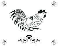 Monochrome in folk style. Monochrome in a folk style. One of the signs of the zodiac, the Chinese horoscope, folklore character. Vector illustration in black and stock illustration