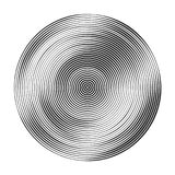 Monochrome concentric circles with different width that makes a. Monochrome concentric circles with different width. halftone element for design. optical vector illustration