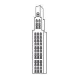 monochrome contour with building skyscraper Stock Photography
