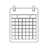 Monochrome contour calendar with two rings Stock Photo
