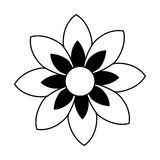 Monochrome contour of figure flower icon floral Stock Photography