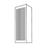 monochrome contour with office building Royalty Free Stock Images