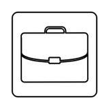 Monochrome contour square with executive suitcase Stock Photos