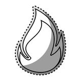 Monochrome contour sticker with flame close up. Vector illustration Royalty Free Stock Photo