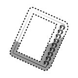 Monochrome contour sticker with notebook spiral Royalty Free Stock Image