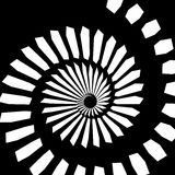 Monochrome contrast spiral Royalty Free Stock Image