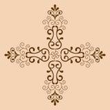 Monochrome croisé décoratif Images libres de droits