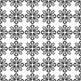 Monochrome croisé de modèle Image stock