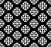 Monochrome cross pattern. Black&white vector illustration Royalty Free Stock Photo