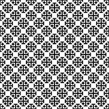 Monochrome cross pattern. Black&white vector illustration vector illustration