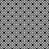Monochrome cross pattern. Black&white vector illustration Stock Photo