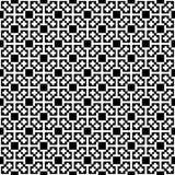Monochrome cross pattern. Black&white vector illustration royalty free illustration