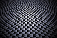 Monochrome curve carbon fiber. On the black shadow. car accessories.  background and texture Royalty Free Stock Photo