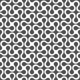 Monochrome curved geometric seamless pattern Stock Images