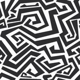 Monochrome curved lines seamless texture Stock Image